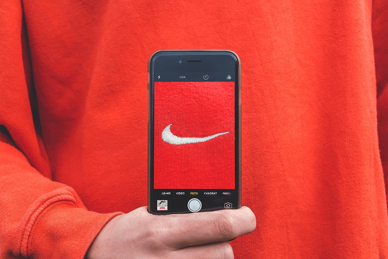 Nike sweater photograph - Twopence Social Blog Post
