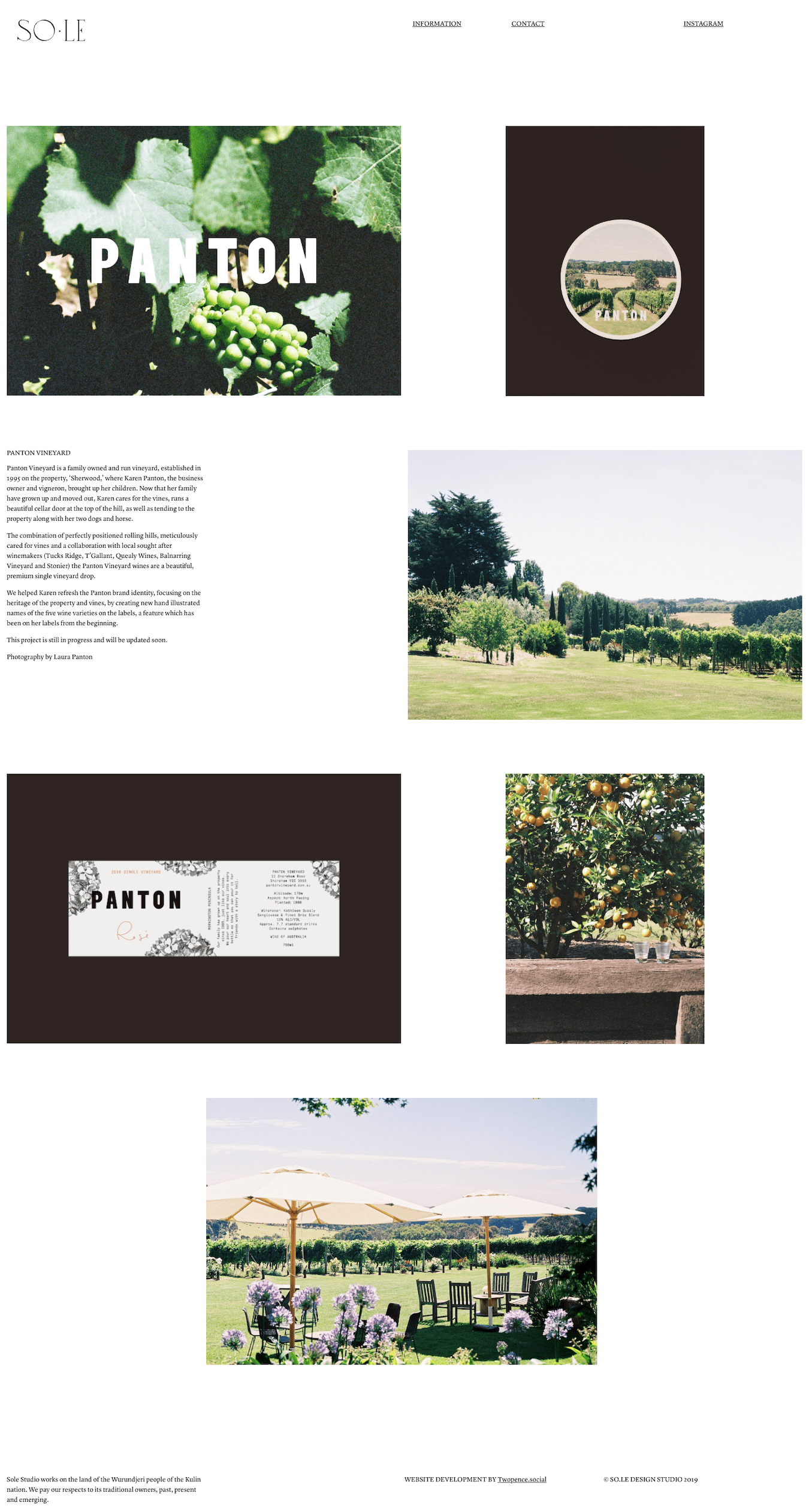 Sole Studio Website Design & Development Folio Page