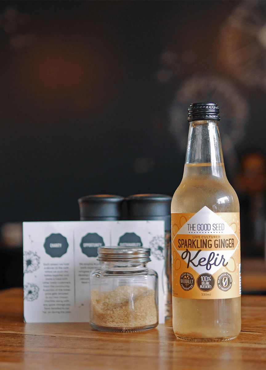 The Good Seed Kefir Sparkling Ginger Social Media Photography